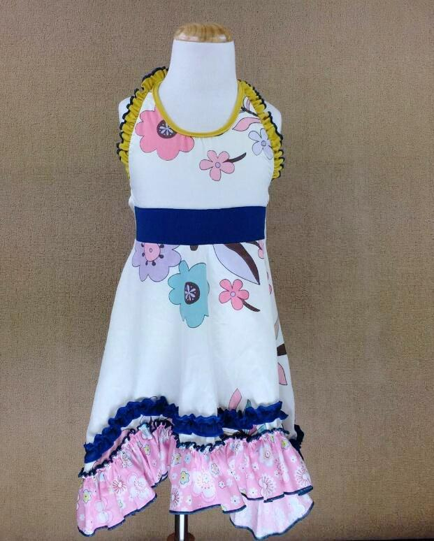 W-1177 Girl's Dress Size 3T-8 Ready To Ship