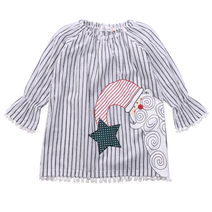 S-724 Girl's Christmas Top Size 9M-4T