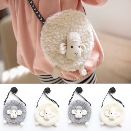 H-017 Girl's Mini Plush Sheep Purse