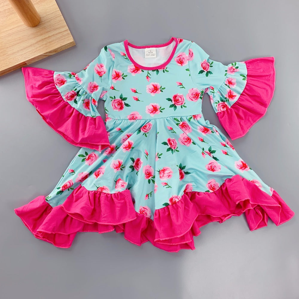 W-1005 Girl's Dress Size 24M-8