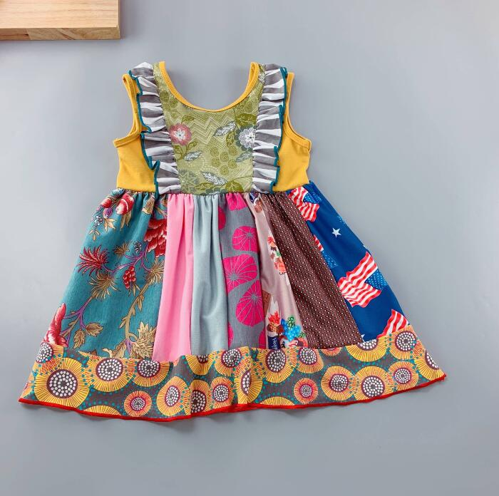 W-1326 Girl's Dress Size 3T-8 READ TO SHIP FROM OHIO