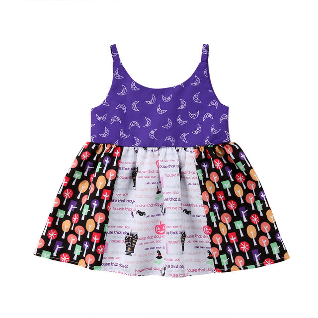S-156 Baby Toddler Girl Halloween Dress  Size 1-5T