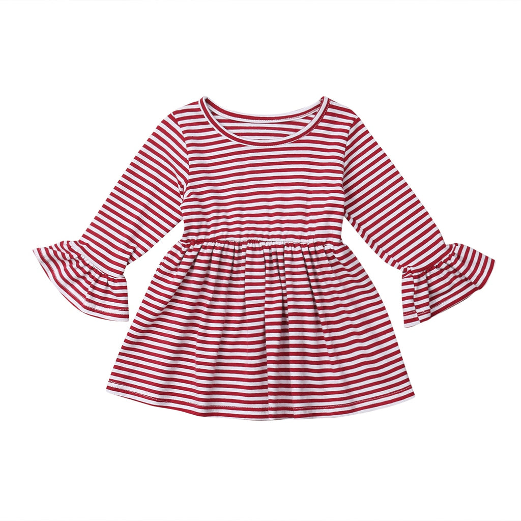 S-1894 Girl's Ruffle Sleeved Top Size 2T-6T