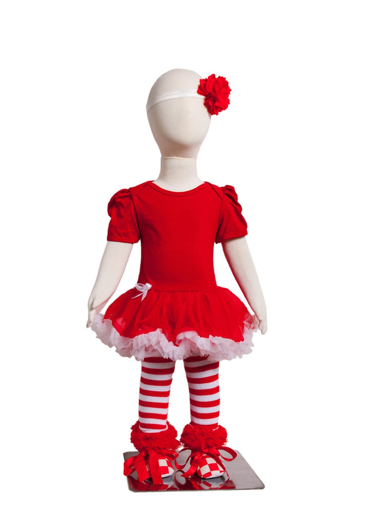 S-4 Infant Girl's Short-Sleeve Red/White 4 Piece Set