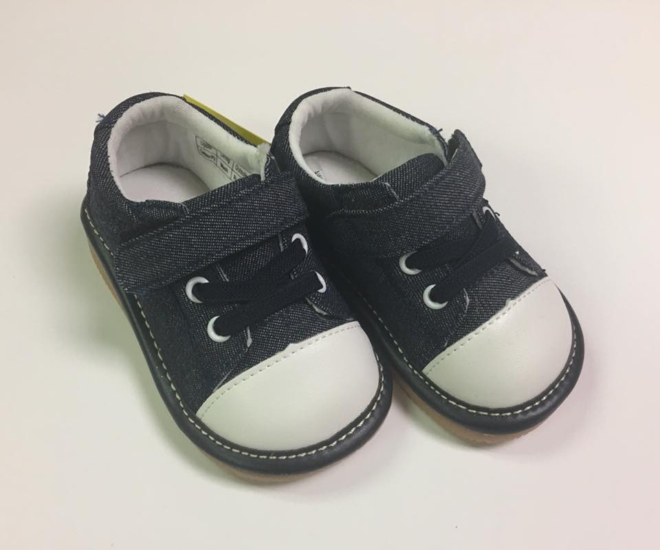Toddler Boy's and Girl's Casual Canvas Denim Tennis Squeaky Shoes