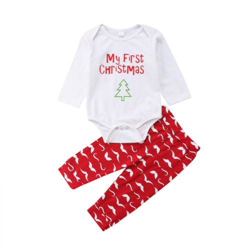 S-508 Baby Toddler Christmas 2 PCS Outfit Size 6M-24M