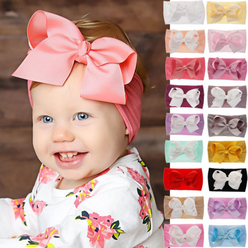 SH-022 Girl's Big Bow Headband 18 Colors