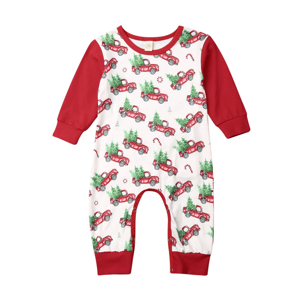 S-1982 Baby's Christmas Long Sleeve Romper Size 6M-24M