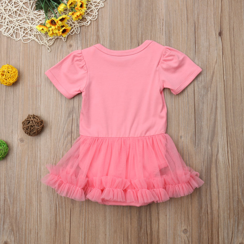 S-945 Daddy's Girl Romper with Tutu Skirt Size 3M-18M