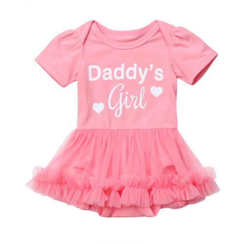 de48ad9658914 S-945 Daddy's Girl Romper with Tutu Skirt Size 3M-18M ...