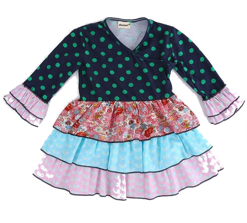 W-1328 Girl's Dress Size 3T-8 READY TO SHIP FROM OHIO