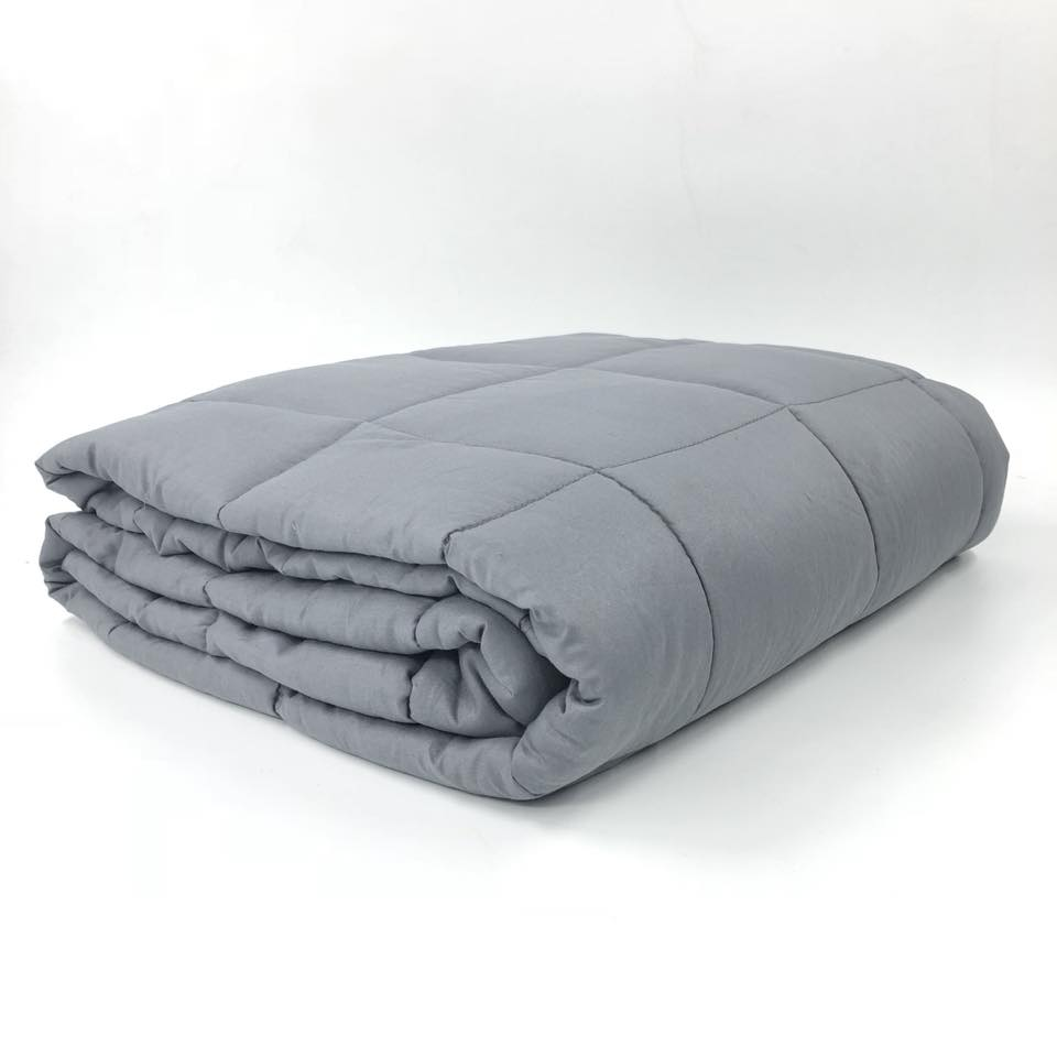15 lbs Grey Weighted Blankets with Duvet Cover