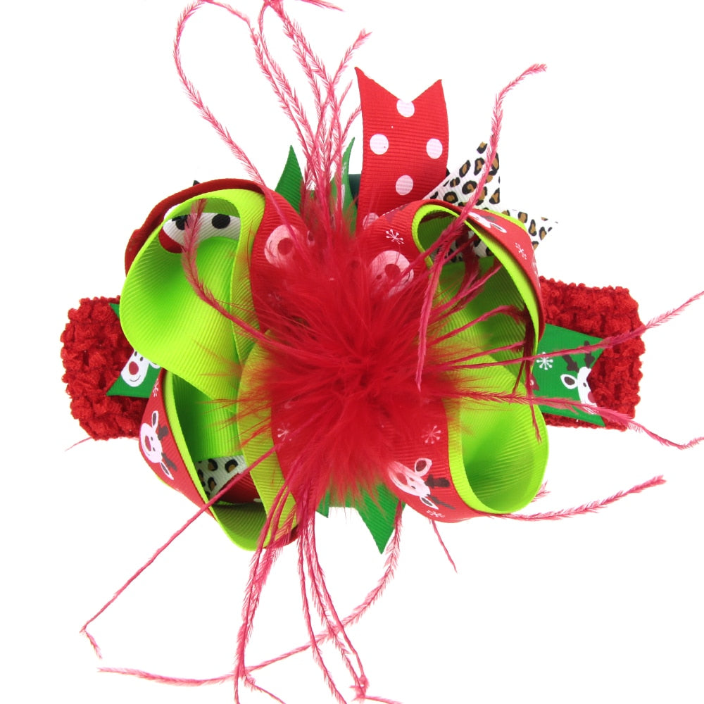 SH-097 Christmas Hair Bow