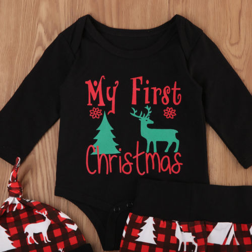 S-514 Christmas Baby Toddler  3 pcs Outfits Set 6-24M