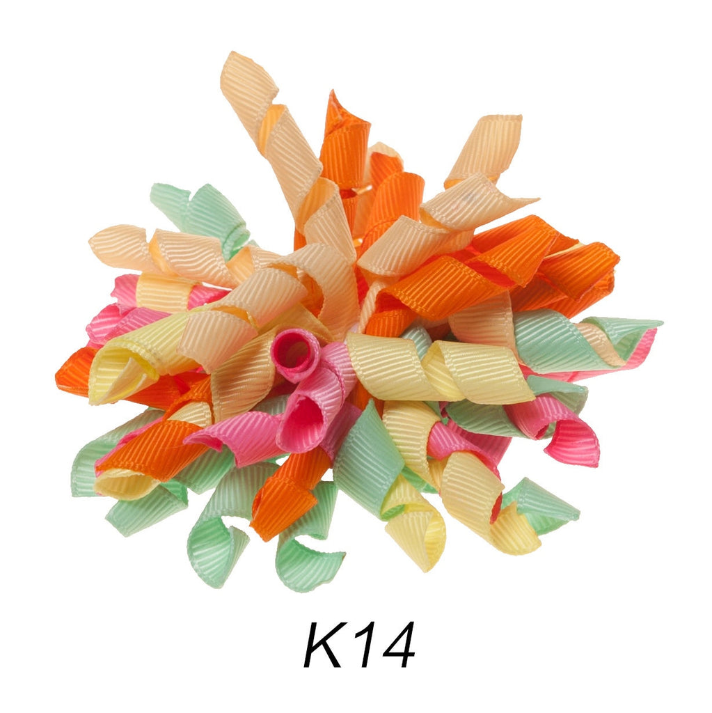 Korker #14 Summer Swirl Clip on Hair/Shoe Bow (Sold Individually)