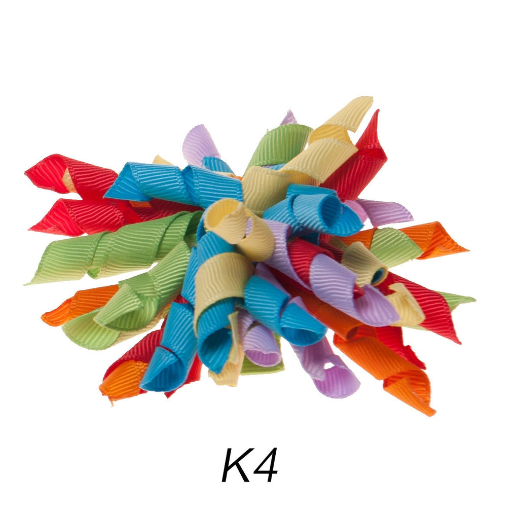 Korker #4 Party Swirl Clip on Hair/Shoe Bow (Sold Individually)