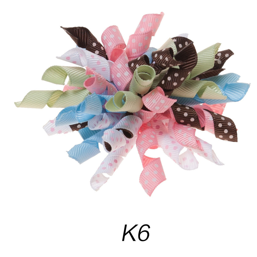 Korker #6 Baby Polka Dot Clip on Hair/Shoe Bow (Sold Individually)