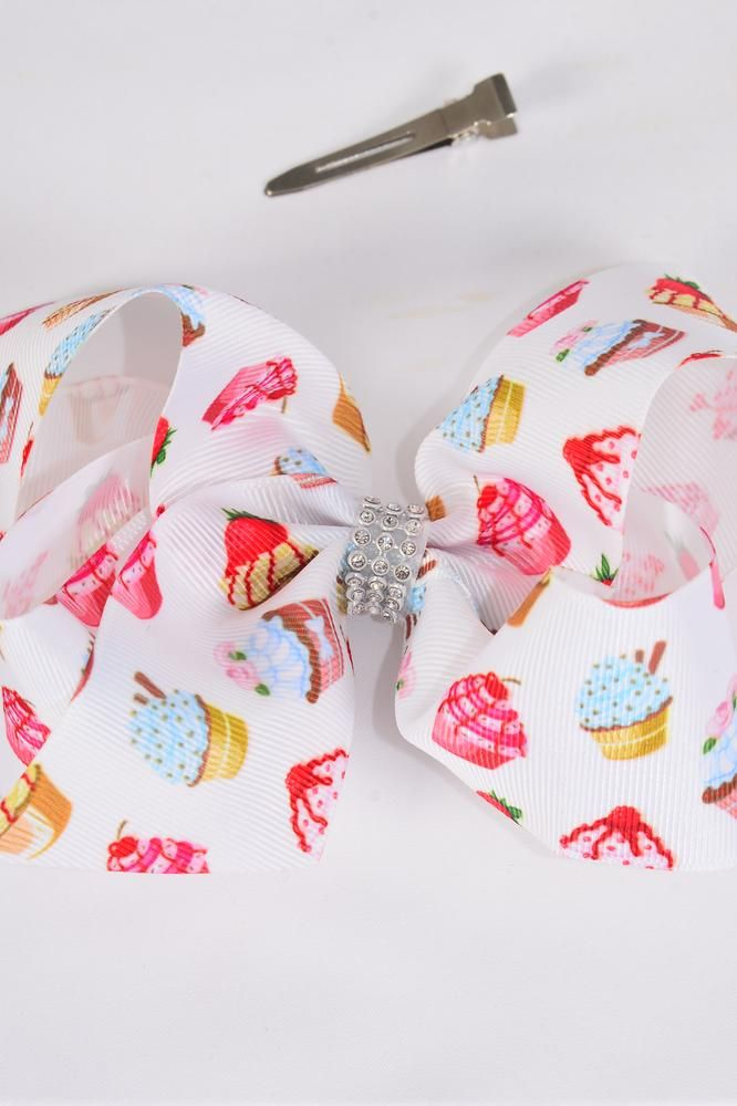MS-0104 Cup Cake Hair Bow
