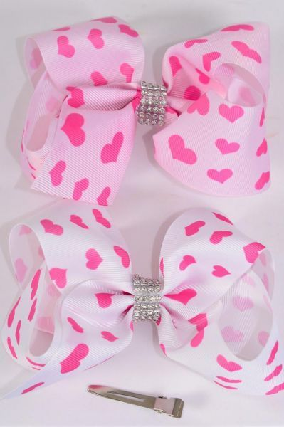 MS-0066 Jumbo Pink Heart Bow