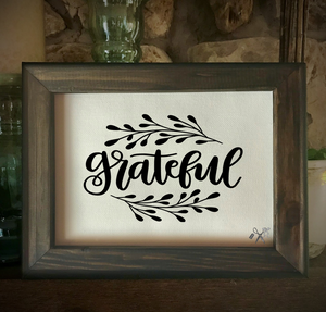 Grateful Framed Canvas
