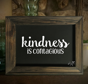 Kindness is Contagious Framed Canvas