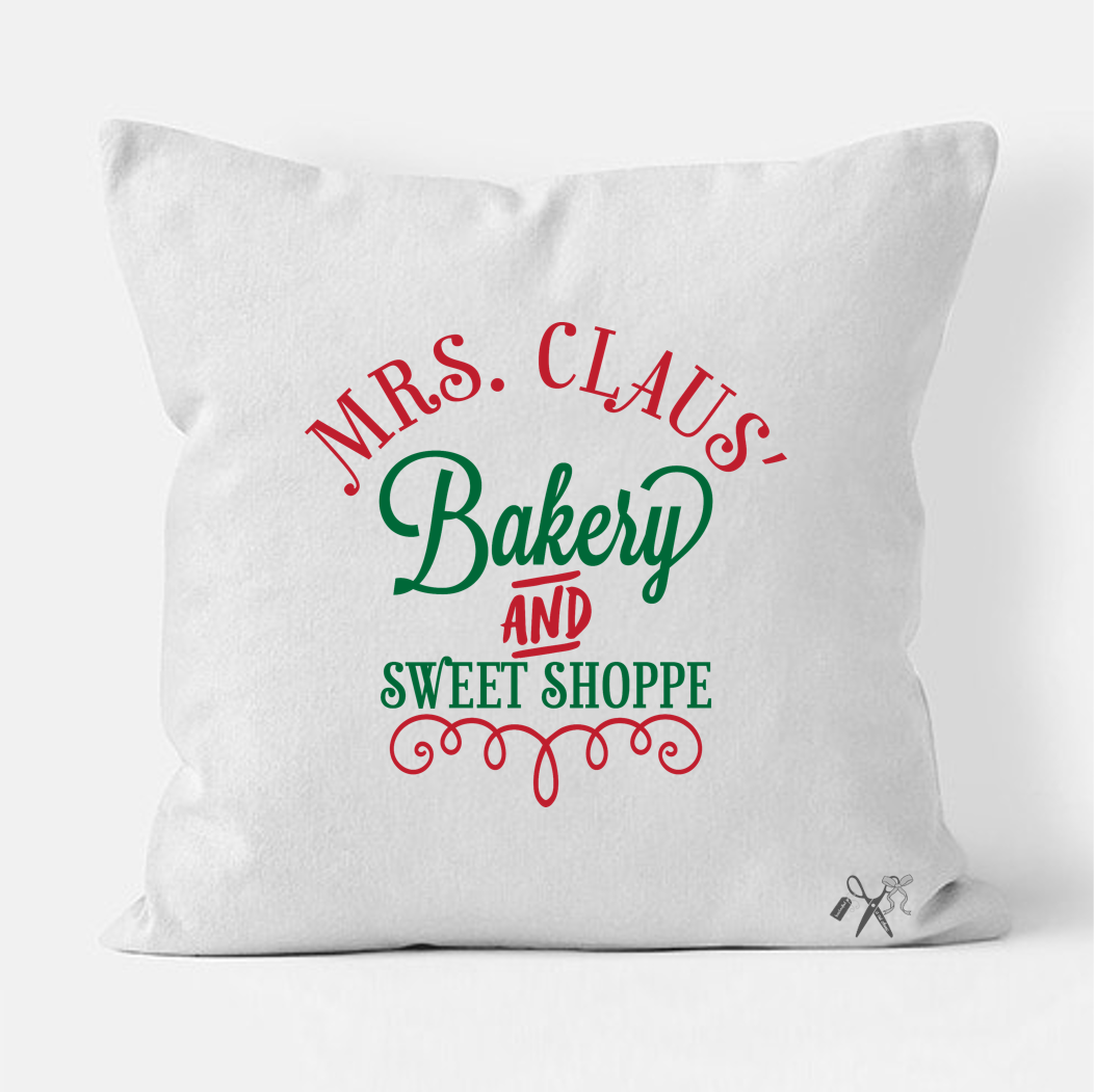 Mrs. Claus' Sweet Shoppe Pillow Cover