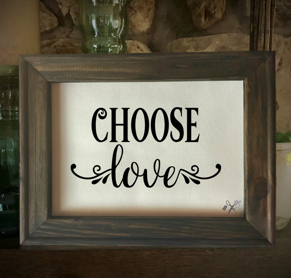 Choose Love Framed Canvas