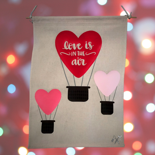 Love is in the Air Canvas Banner