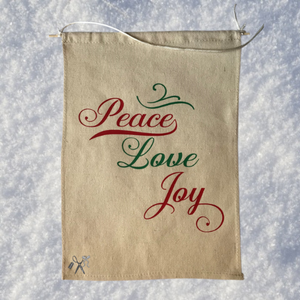 Peace, Love, Joy Canvas Banner