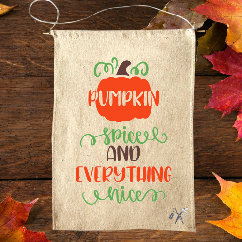 Pumpkin Spice Canvas Banner