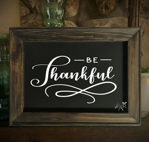 Be Thankful Framed Canvas