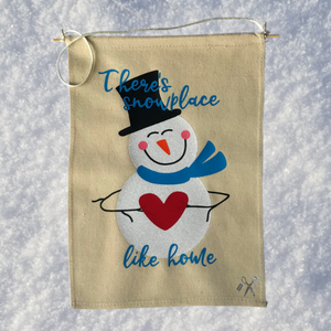 Snowplace Like Home Canvas Banner