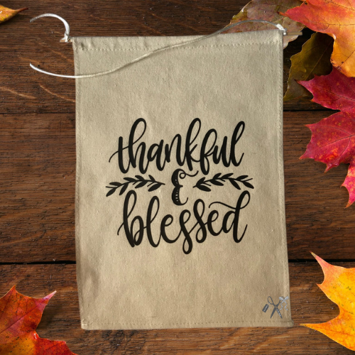 Thankful and Blessed Canvas Banner