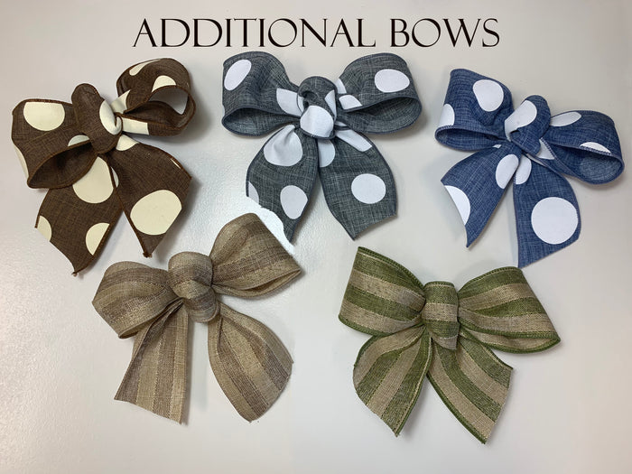 "SMALL MAGNETIC BOW for 12"" Round Welcome Sign *Interchangeable throughout the year! Accessory"