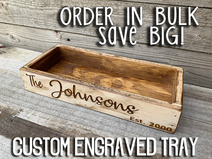 CUSTOM WEDDING Tray Graduation Anniversary Baby Shower ENGRAVED Centerpiece Personalize