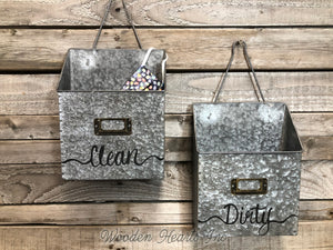 MAILBOX ORGANIZER WALL Bin Metal Mailbox *Clean Dirty Mail Bills Coupons Holder * Fabric FACE MASK - Wooden Hearts Inc