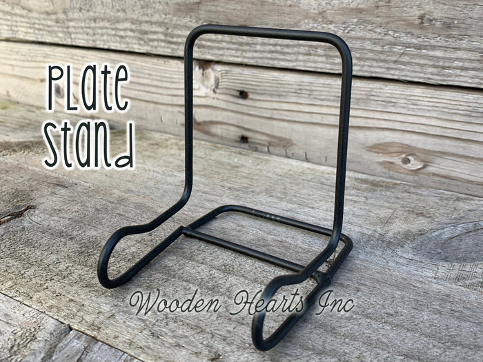 PLATE STAND Black Iron Metal Picture Frame Tile  Easel  Sign Table Tabletop Desk