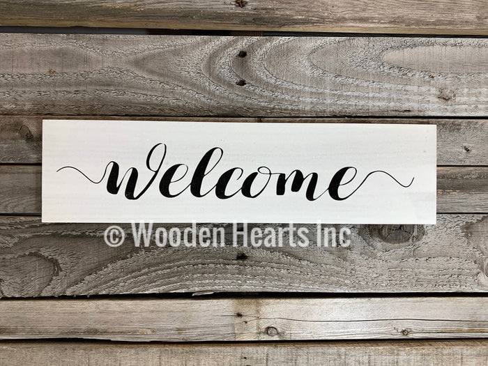 Welcome Sign *Blessings, This is us, our life story home gift wedding family wood  decor  *4x16