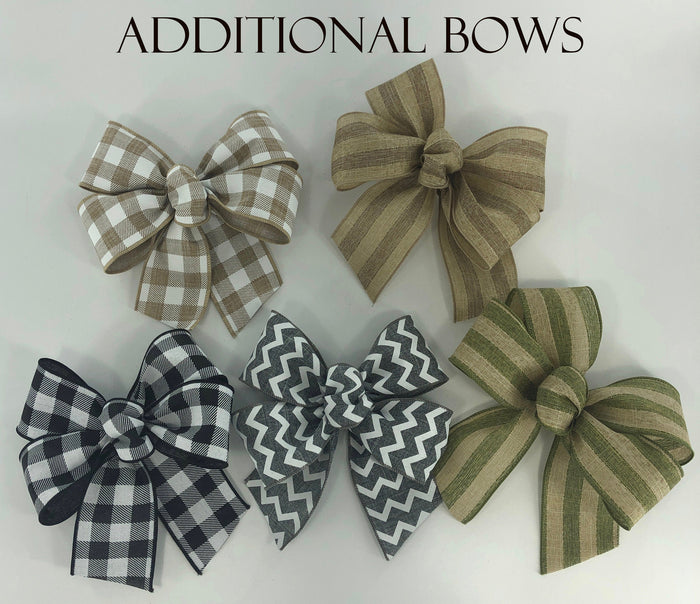 BOWS AND MAGNET *Sign upgrade Extra bows high-grade Magnet Change custom bow seasonal & everyday