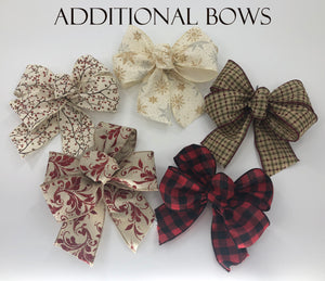 BOWS AND MAGNET *Sign upgrade Extra bows high-grade Magnet Change custom bow seasonal & everyday - Wooden Hearts Inc