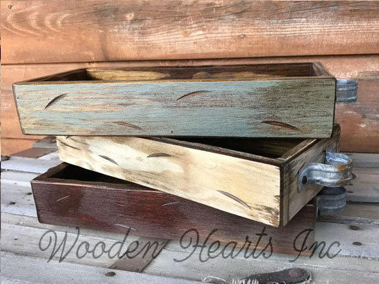 Wood TRAY ONLY Medium Quart Size (Fits 3 Quart Jars) Create a MASON Jar Centerpiece