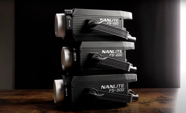 The Nanlite FS-Series stacked on top of each other