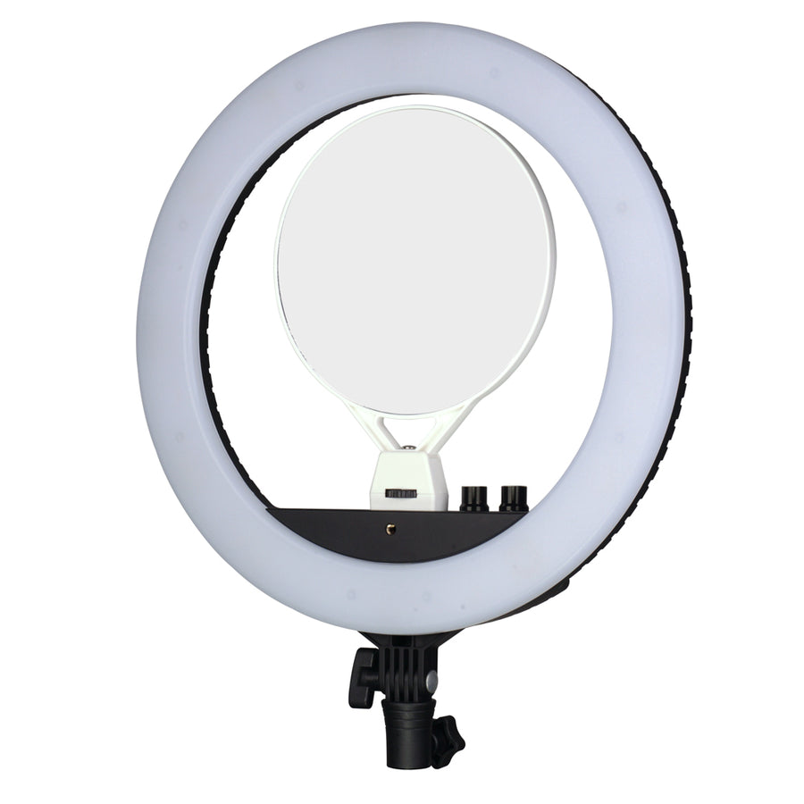 NanLite Halo 14 Dimmable Adjustable Bicolor LED Ring Light Desktop Kit