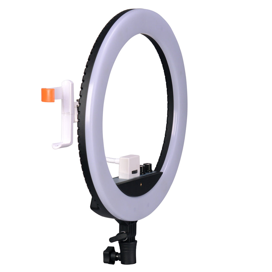 NanLite Halo 14 Dimmable Adjustable Bicolor LED Ring Light Complete Kit With Light Stand