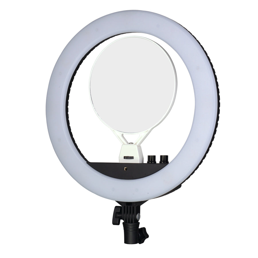 NanLite Halo 14 Dimmable Adjustable Bicolor LED Ring Light Mirror Kit