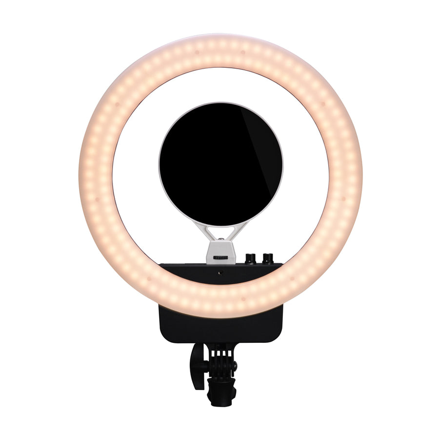 NanLite Halo 16 Bicolor 16in LED AC/Battery Ring Light with USB Power Passthrough Carry Case Kit