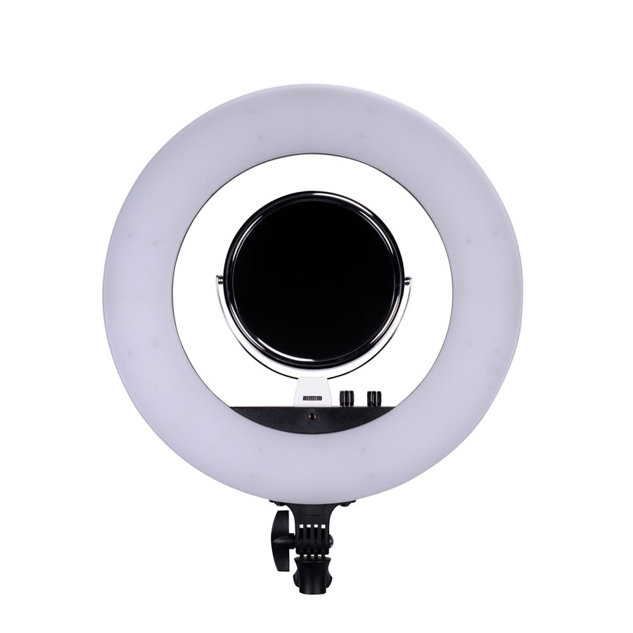 NanLite Halo 18  Dimmable Adjustable Bicolor 18in LED Ring Light Desktop Kit