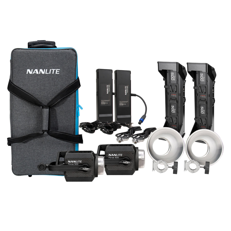 Nanlite Forza 500 LED Monolight 2 Light Kit