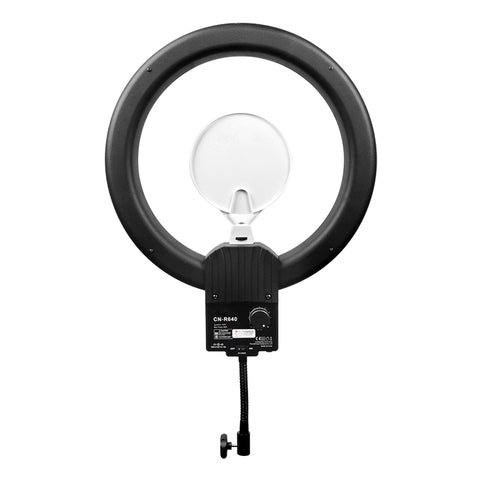NanLite Halo 19 Dimmable Daylight Balanced 19in LED Ring Light with Cloth Diffuser and Camera Mount