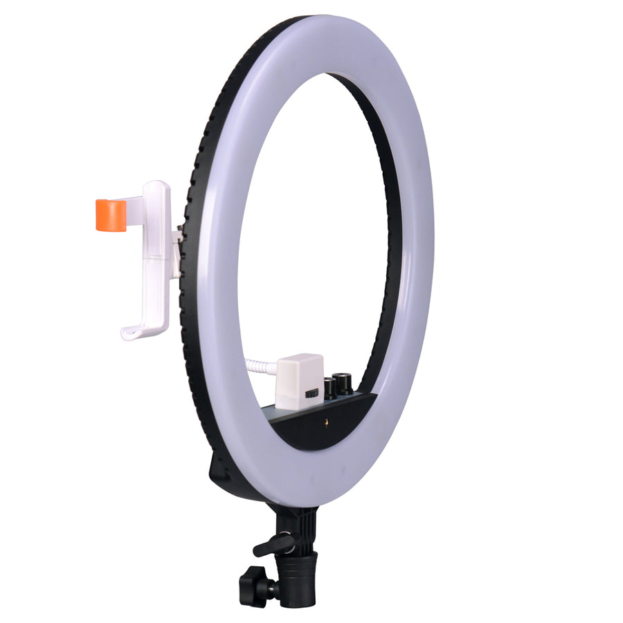 NanLite Halo 14U Dimmable Adjustable Bicolor LED Ring Light With Built-In Li-Ion Battery